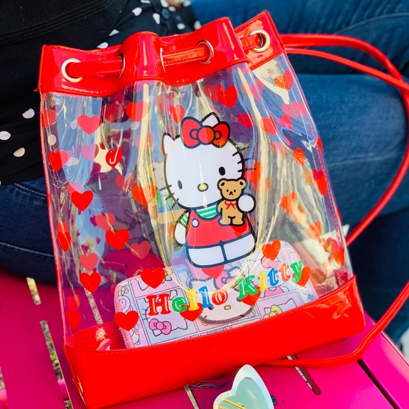 "NWT Hello Kitty 10/"" Mini Backpack Bag Red Pink Newest Style Licensed Sanrio"